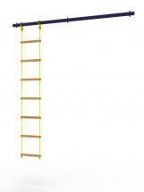 Перекладина Rokids к шведской стенке Роки с веревочной лестницей, ультрамарин