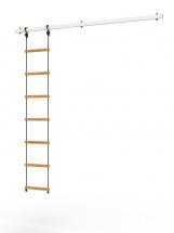 Перекладина Rokids к шведской стенке Роки с веревочной лестницей, белый