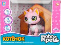 Робо-котенок 1Toy RoboPets со светом и звуком