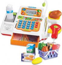 Касса №1 с набором продуктов в корзинке со светом и звуком