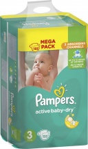 Подгузники Pampers Active Baby 3 (5-9 кг) 152 шт