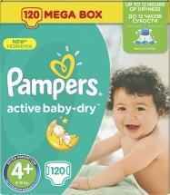 Подгузники Pampers Active Baby 4+ (9-16 кг) 120 шт