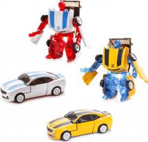 Трансформер Робот-Машина Пламенный мотор Космобот желтый/белый