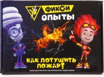 Набор для опытов Юный Химик Фикси опыты. Как потушить пожар?