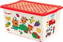 Ящик Little Angel Три кота. Обучайка Считай для хранения игрушек 57 л