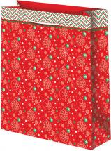 Пакет подарочный Новогодний 33х45 см, красный