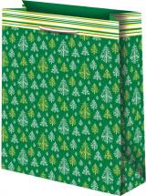 Пакет подарочный Новогодний 33х45 см, зеленый