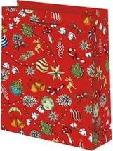 Пакет подарочный Новый год 33х45 см, красный