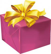 Упаковка подарка до 25 см с бантиком 1,8 см
