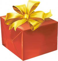 Упаковка подарка до 40 см с бантиком 3 см