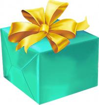 Упаковка подарка от 40 см с бантиком (органза) 3-5 см