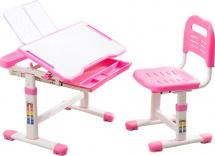 Парта растущая FunDesk Cubby Vanda Pink со стульчиком