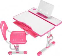 Парта растущая FunDesk Cubby Botero Pink со стульчиком