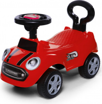 Каталка Baby Care Speedrunner музыкальный руль, красный