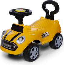 Каталка Baby Care Speedrunner музыкальный руль, желтый