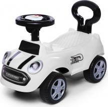 Каталка Baby Care Speedrunner музыкальный руль, белый
