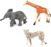 Фигурки Дикие животные Jungle animal 3 шт, слон/гепард/жираф