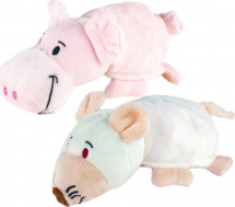Мягкая игрушка 1Toy Вывернушка 16 см, крыса/свинья