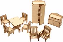 Мебель для кукольного домика Большой слон Гостиная