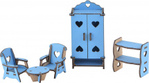 Мебель для кукольного домика Большой слон Гостиная, цветной