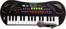 Синтезатор Zhorya 32 клавиши с микрофоном, черный