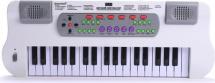 Синтезатор 37 клавиш с микрофоном, белый