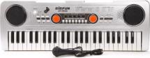 Синтезатор Bigfun 49 клавиш с микрофоном, серый