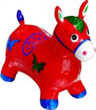 Прыгун Лошадка с рисунком, красный