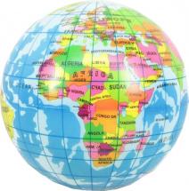 Мяч Карта мира 12 см