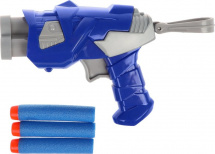 Бластер с мягкими пулями, серо-синий