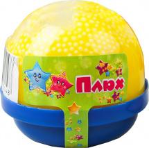 Слайм Плюх капсула с шариками, желтый
