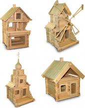 Конструктор деревянный Стругъ Универсальный 4в1 343 детали