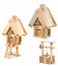 Конструктор деревянный Стругъ Малый универсальный 3в1 55 деталей