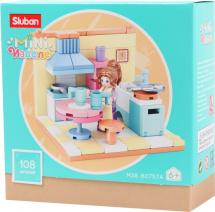 Конструктор Sluban Кукольный дом. Кухня 108 деталей