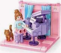 Конструктор Sluban Кукольный дом. Музыкальная комната 111 деталей