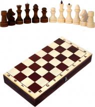 Шахматы Орловская ладья обиходные парафиновые с темной доской