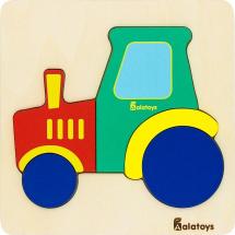 Пазл Alatoys Трактор с контуром