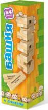 Падающая башня Бэмби с заданиями для детей