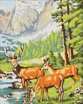 Картина по номерам Polly Олени на водопое 50х40 см
