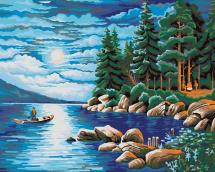 Картина по номерам Polly Ночь в лесу 50х40 см