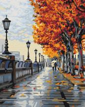 Картина по номерам Polly Осенняя прогулка 50х40 см