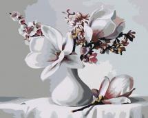 Картина по номерам Polly Букет с магнолией 50х40 см