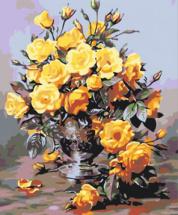 Картина по номерам Polly Золотой букет 50х40 см