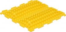 Массажный коврик Орто Волна жесткий 25x25 см, желтый