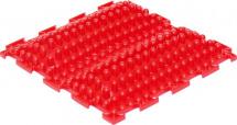 Массажный коврик Орто Волна жесткий 25x25 см, красный