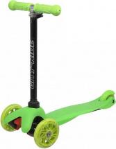 Самокат City-Ride 3-х колесный со светящимися колесами, зеленый