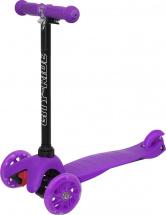 Самокат City-Ride 3-х колесный со светящимися колесами, фиолетовый
