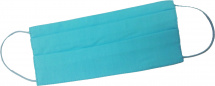 Маска защитная многоразовая, тканевая из хлопка, голубая