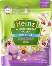 Каша Heinz Лакомая молочная многозерновая с яблоком и вишенкой с 6 мес 170 г