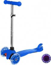 Самокат MobyKids Basic 1.0 со светящимися колесами до 40 кг, синий